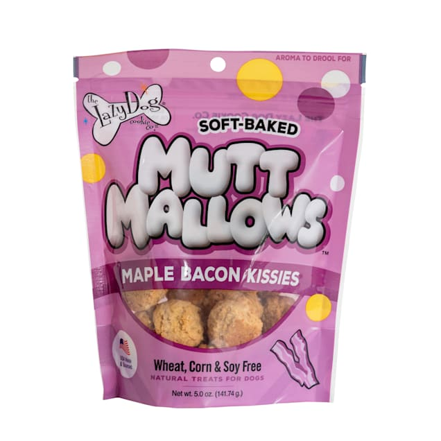 The Lazy Dog Cookie Co. Mutt Mallows Maple Bacon Kissies Soft-Baked Dog Treats, 5 oz. - Carousel image #1