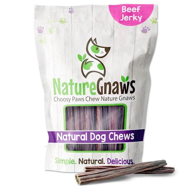 Nature Gnaws Beef Jerky Sticks Natural Dog Chews, 16 oz. - Carousel image #1