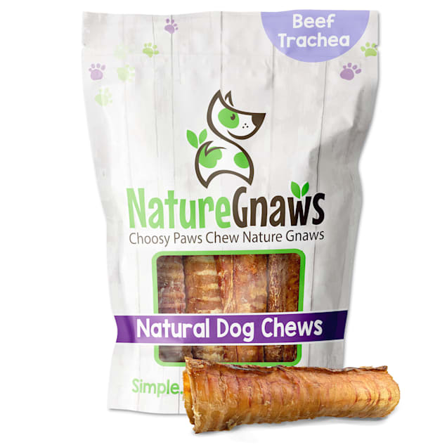 Nature Gnaws Beef Trachea Natural Dog Chews, 6 Count - Carousel image #1
