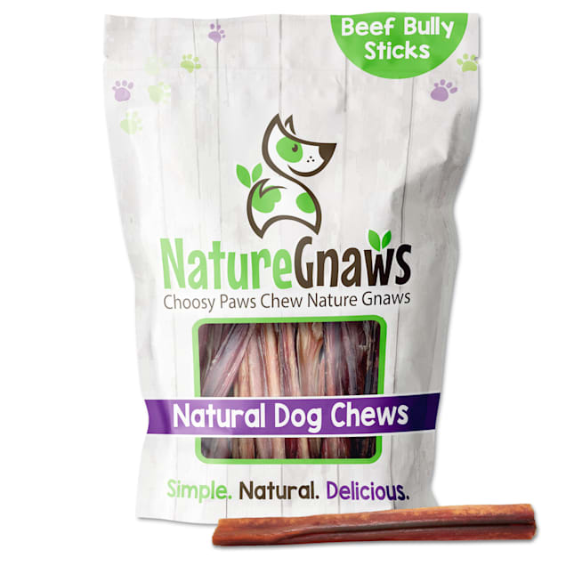 "Nature Gnaws Beef Bully Sticks Natural Dog Chews 6"", 16 oz. - Carousel image #1"