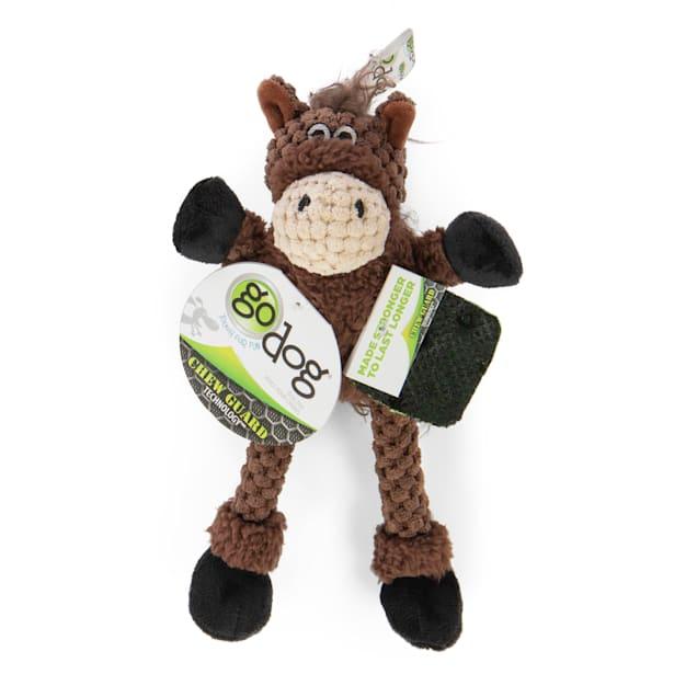 goDog Skinny Horse Plush Dog Toy, X-Small - Carousel image #1