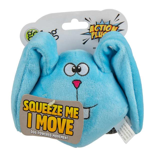 goDog Blue Bunny Animated Squeaker Dog Toy, Medium - Carousel image #1