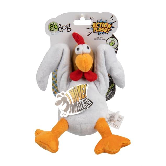 goDog Chicken Animated Squeaker Dog Toy, Medium - Carousel image #1