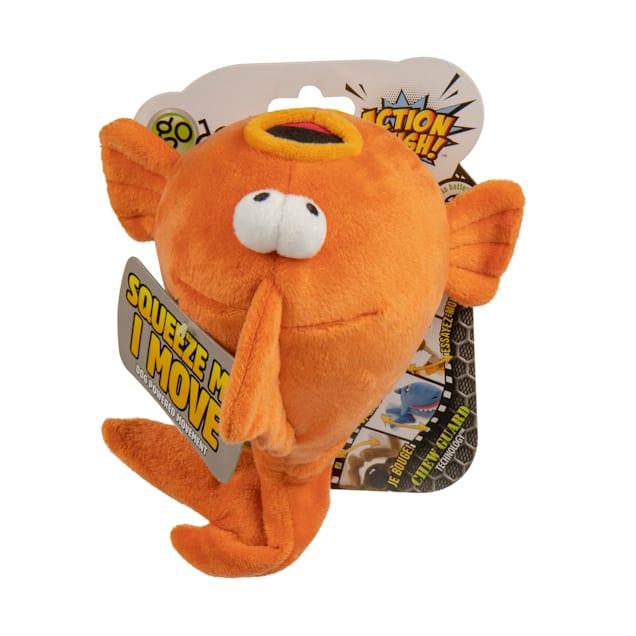 goDog Gold Fish Animated Squeaker Dog Toy, Medium - Carousel image #1