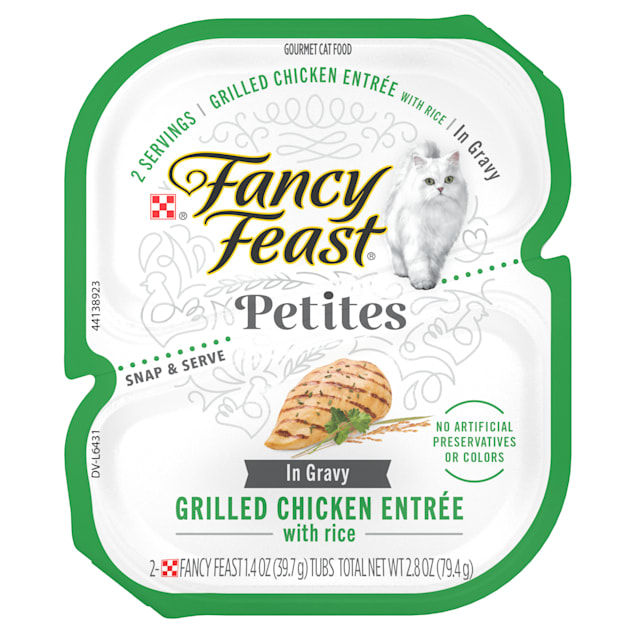 Purina Fancy Feast Petites Grilled Chicken Entree With Rice Gourmet Gravy Wet Cat Food, 2.8 oz., Case of 12 - Carousel image #1