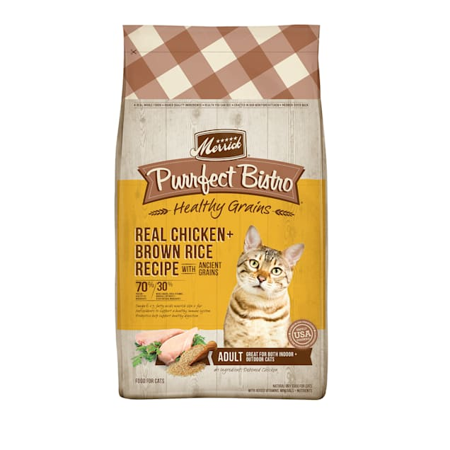 Merrick Purrfect Bistro Healthy Grains Real Chicken + Brown Rice Recipe with Ancient Grains Dry Cat Food, 12 lbs. - Carousel image #1
