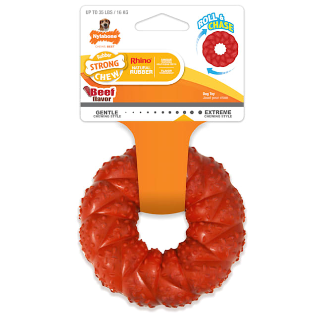 Nylabone Chew Ring Braided Beef Flavor Chew Toy for Dogs, X-Small - Carousel image #1
