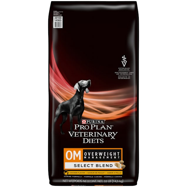 Purina Pro Plan Veterinary Diets OM Select Blend Overweight Management With Chicken Canine Formula Dry Dog Food, 32 lbs. - Carousel image #1