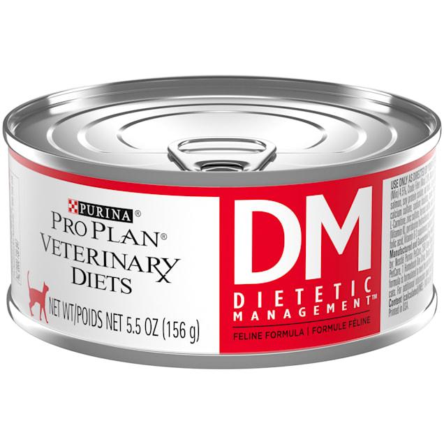 Purina Pro Plan Veterinary Diets DM Dietetic Management Feline Formula Wet Cat Food, 5.5 oz., Case of 24 - Carousel image #1