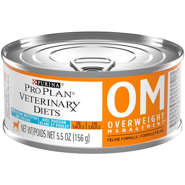 Purina Pro Plan Veterinary Diets OM Overweight Management Feline Formula Wet Cat Food, 5.5 oz., Case of 24 - Carousel image #1