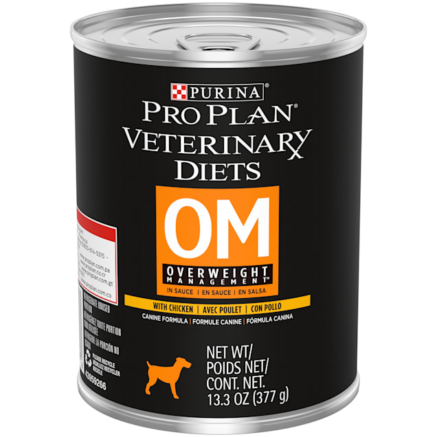 Purina Pro Plan Veterinary Diets OM Overweight Management Canine Formula Wet Dog Food, 13.3 oz., Case of 12 - Carousel image #1