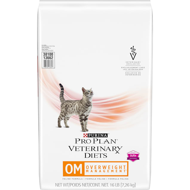 Purina Pro Plan Veterinary Diets OM Overweight Management Feline Formula Dry Cat Food, 16 lbs. - Carousel image #1