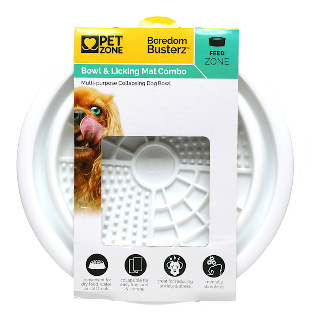 Boredom Busterz Bowl & Licking Mat Combo for Pets - Carousel image #1