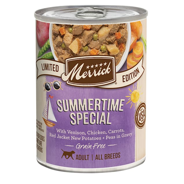 Merrick Grain Free Limited Edition Summertime Special Recipe Canned Dog Food, 12.7 oz., Case of 12 - Carousel image #1