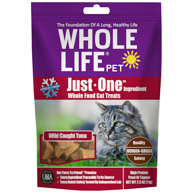 Whole Life Pet Just One Single Ingredient USA Freeze Dried Tuna Fillet Treats for Cats, 2.5 oz. - Carousel image #1