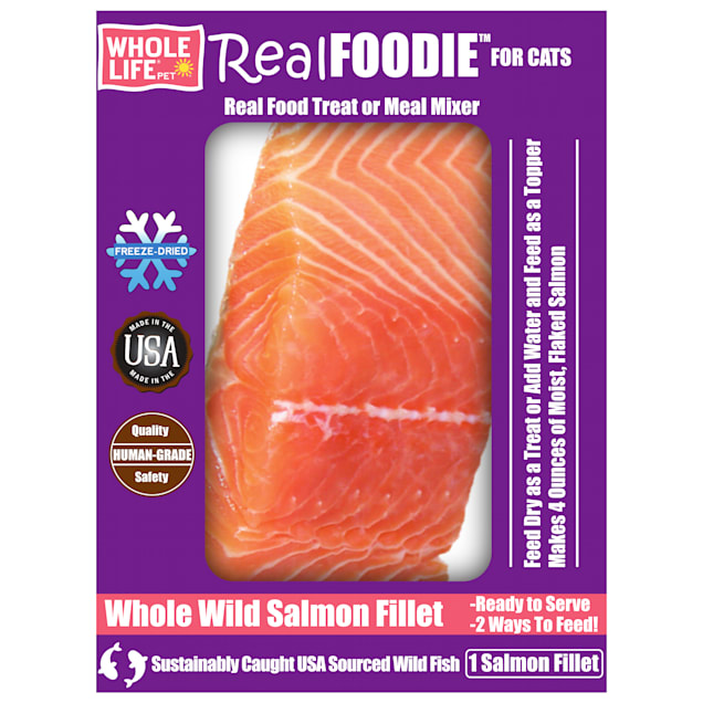 Whole Life Pet Real Foodie Salmon Fillet Cat Treats, 1 oz. - Carousel image #1
