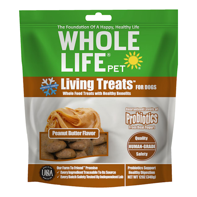 Whole Life Pet Living Treats Probiotics Peanut Butter Flavor Value Pack for Dogs, 12 oz. - Carousel image #1
