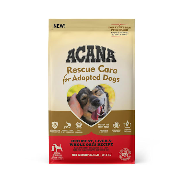ACANA Rescue Care For Adopted Dogs Red Meat, Liver & Whole Oats Recipe Premium Dry Food, 22.5 lbs. - Carousel image #1