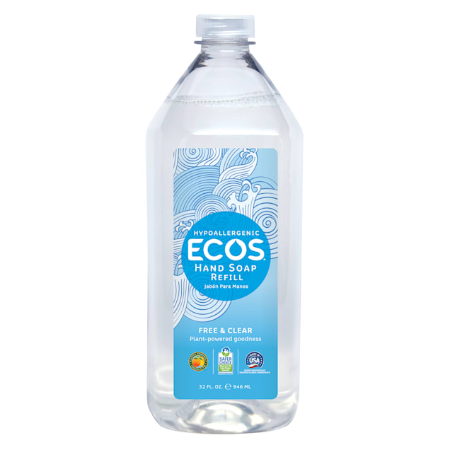 ECOS Hypoallergenic Free & Clear Refill Hand Soap, 32 fl. oz. - Carousel image #1