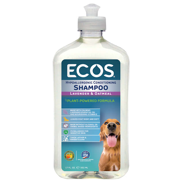 ECOS Pet Hypoallergenic Conditioning Lavender Scent with Oatmeal Shampoo, 17 fl. oz. - Carousel image #1