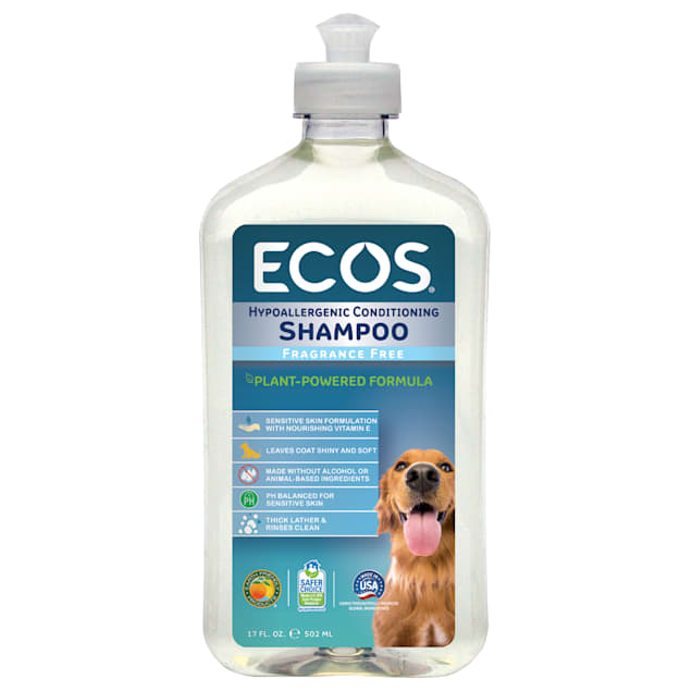 ECOS Pet Hypoallergenic Conditioning Fragrance Free Shampoo, 17 fl. oz. - Carousel image #1