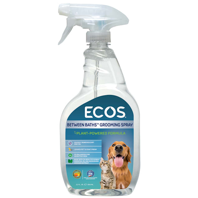 ECOS Pet Between Baths Grooming Spray with Plant Powered Formula, 22 fl. oz. - Carousel image #1
