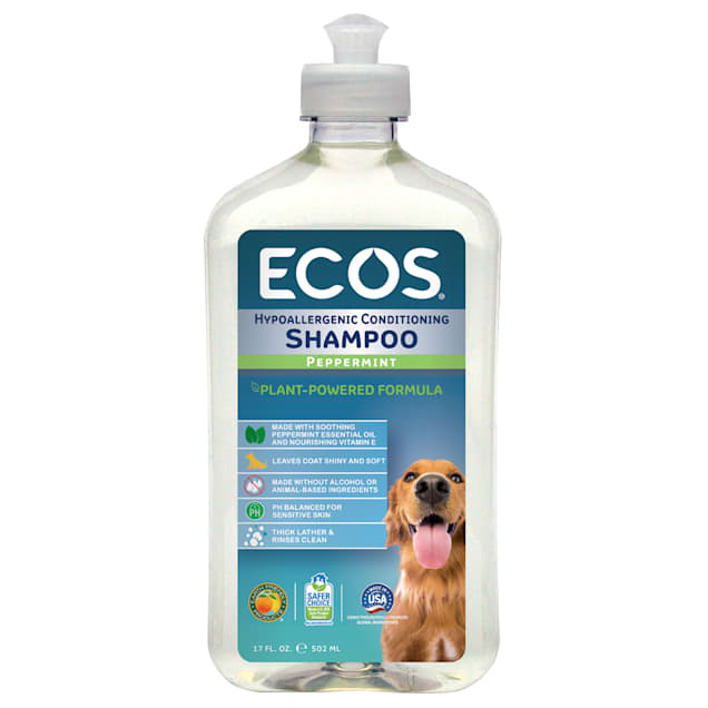 ECOS Pet Hypoallergenic Conditioning Peppermint Scent Shampoo, 17 fl. oz. - Carousel image #1