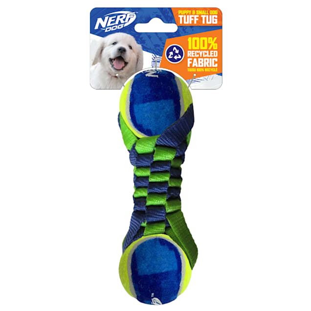 Nerf Tennis Balls with Rope Dog Toy, Small - Carousel image #1