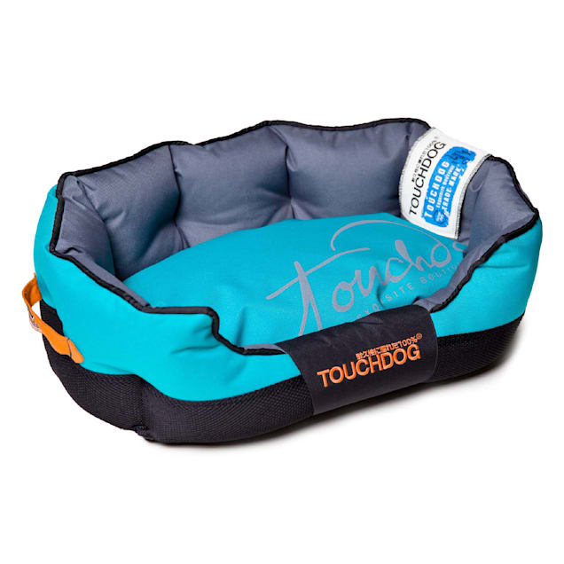 """Touchdog Blue Performance-Max Sporty Comfort Cushioned Dog Bed, 25.6"""" L X 15.7"""" W - Carousel image #1"""