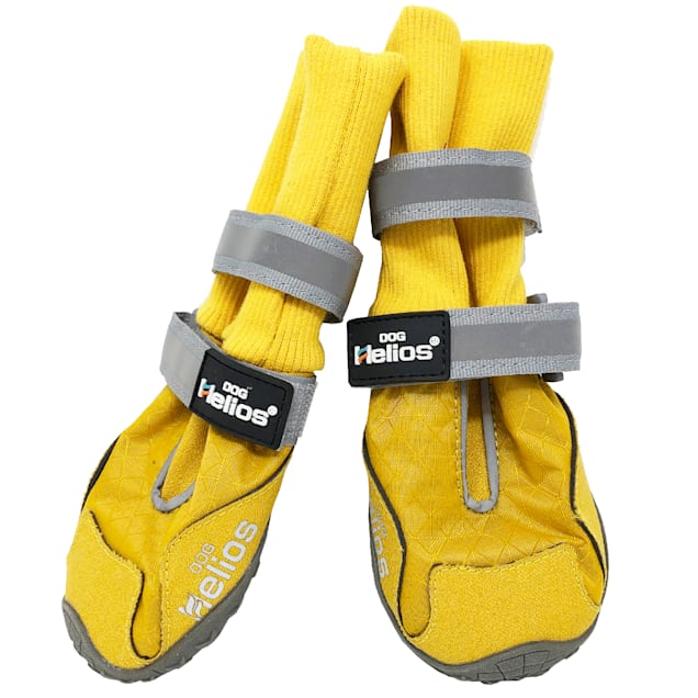 Dog Helios Yellow 'Traverse' Premium Grip High-Ankle Outdoor Dog Boots, X-Small - Carousel image #1