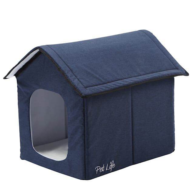 """Pet Life Blue """"Hush Puppy"""" Electronic Heating and Cooling Smart Collapsible House, 19"""" L X 16.5"""" W X 16.5"""" H - Carousel image #1"""