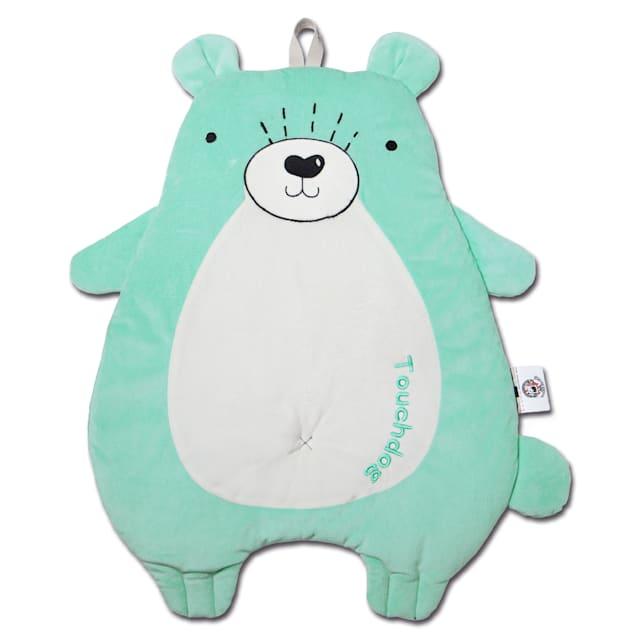 """Touchdog Green 'Critter Hugz' Designer Character Dog Mat, 38.2"""" L X 21.6"""" W - Carousel image #1"""