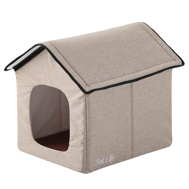 """Pet Life Beige """"Hush Puppy"""" Electronic Heating and Cooling Smart Collapsible House, 19"""" L X 16.5"""" W X 16.5"""" H - Carousel image #1"""