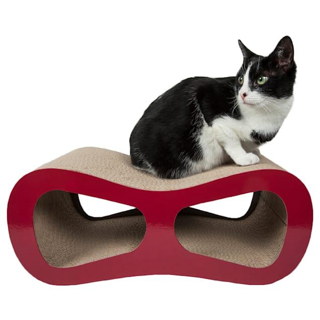 """Pet Life Red Modiche Ultra Premium Modern Designer Lounger Cat Scratcher, 19.7"""" L X 9.44"""" W X 8.26"""" H - Carousel image #1"""