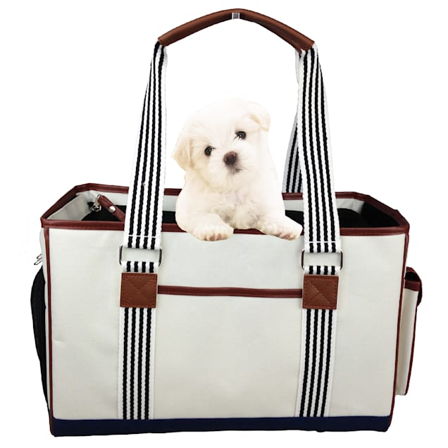 "Pet Life Fashion 'Yacht Polo' Pet Carrier, 15.4"" L X 7.1"" W X 10.2"" H - Carousel image #1"