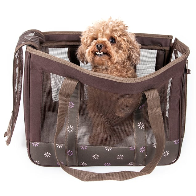 "Pet Life Surround View' Posh Fashion Pet Carrier, 13.8"" L X 9"" W X 12.5"" H - Carousel image #1"