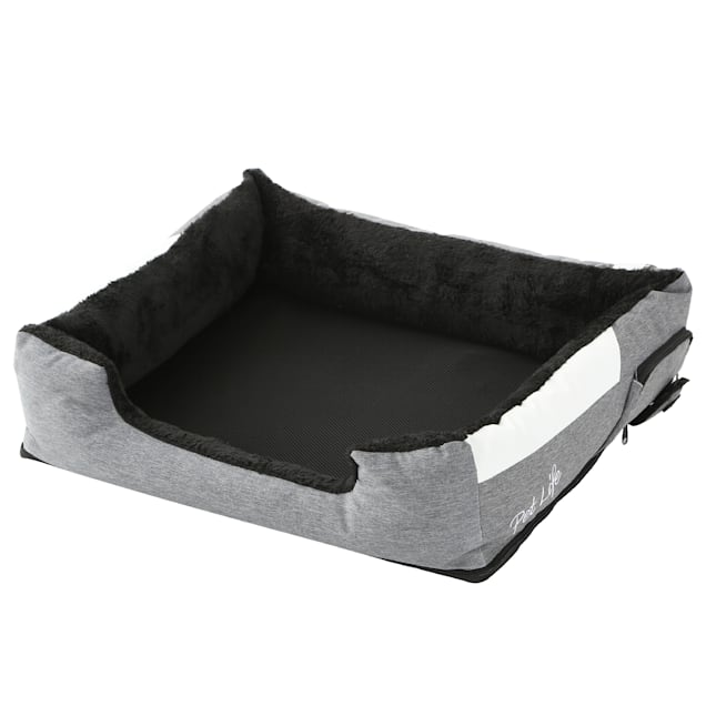 """Pet Life Grey """"Dream Smart"""" Electronic Heating and Cooling Smart Pet Bed, 25.6"""" L X 21.65"""" W - Carousel image #1"""