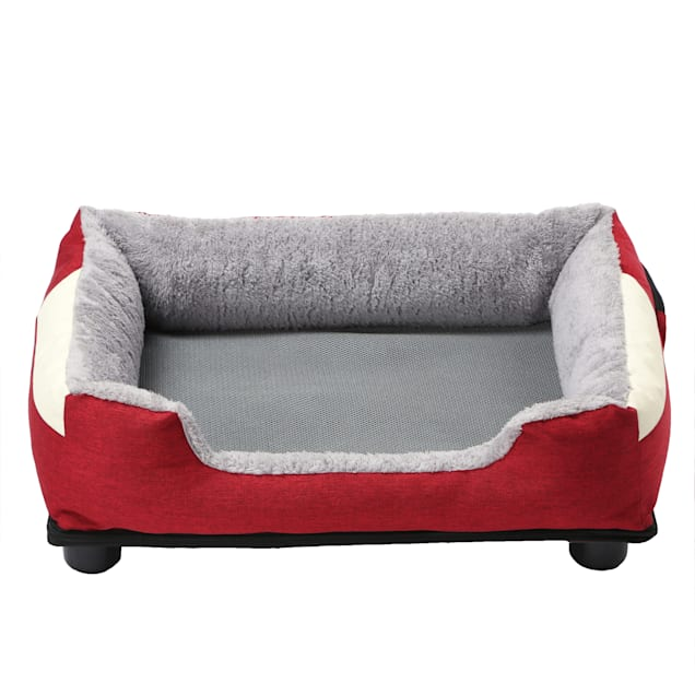 """Pet Life Red """"Dream Smart"""" Electronic Heating and Cooling Smart Pet Bed, 25.6"""" L X 21.65"""" W - Carousel image #1"""