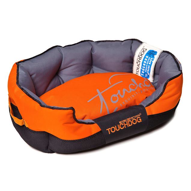 """Touchdog Orange Performance-Max Sporty Comfort Cushioned Dog Bed, 25.6"""" L X 15.7"""" W - Carousel image #1"""
