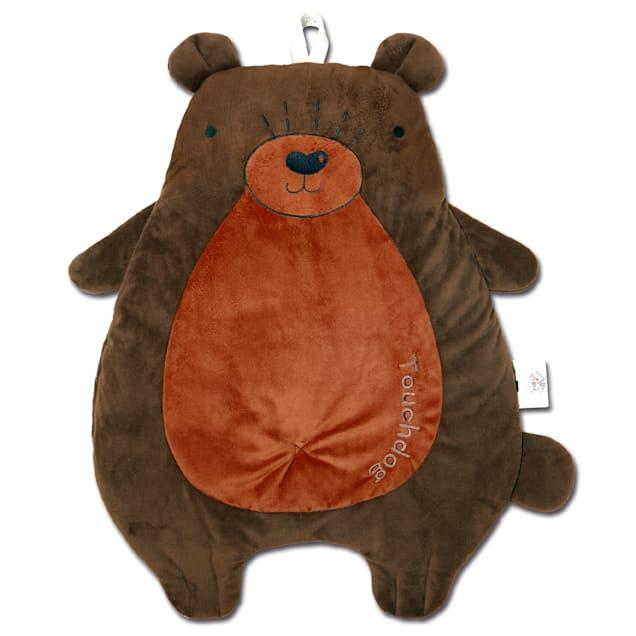 """Touchdog Brown 'Critter Hugz' Designer Character Dog Mat, 38.2"""" L X 21.6"""" W - Carousel image #1"""
