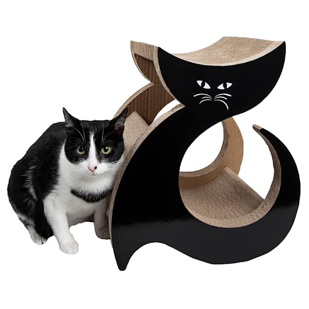 "Pet Life Purresque Ultra Premium Fashion Designer Lounger Cat Scratcher, 13.4"" L X 11.81"" W X 15.4"" H - Carousel image #1"