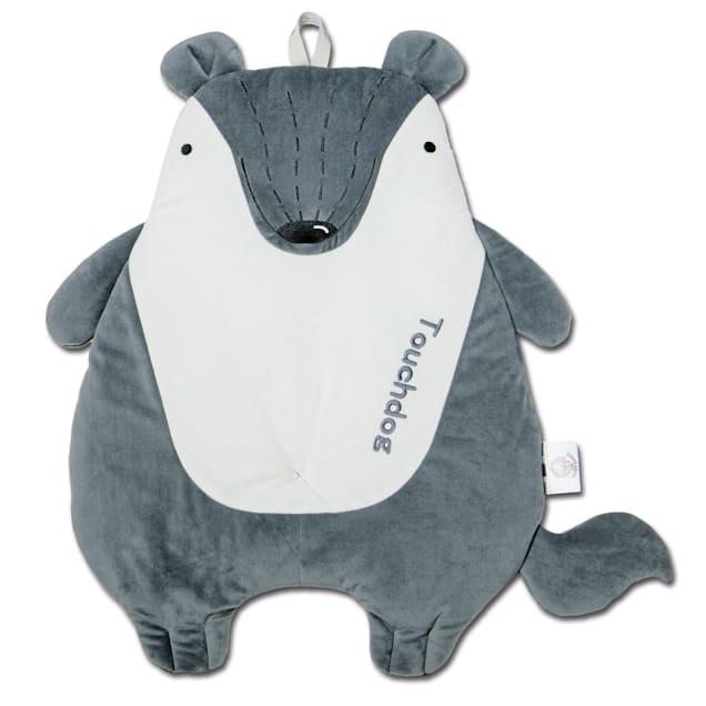 "Touchdog Grey 'Critter Hugz' Designer Character Dog Mat, 38.2"" L X 21.6"" W - Carousel image #1"