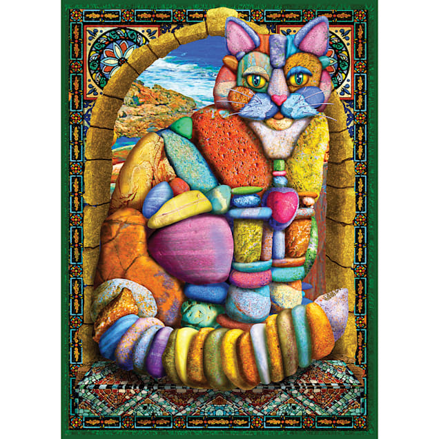 Willow Creek Press Cairn Stone Cat 1000-Piece Puzzle - Carousel image #1