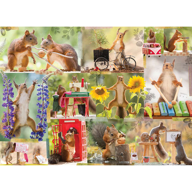 Willow Creek Press Gettin' Squirrelly 1000-Piece Puzzle - Carousel image #1