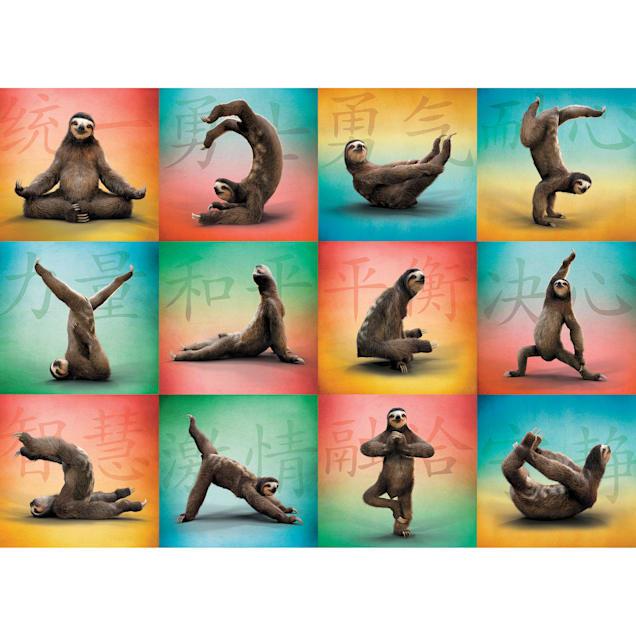 Willow Creek Press Sloth Yoga 1000-Piece Puzzle - Carousel image #1