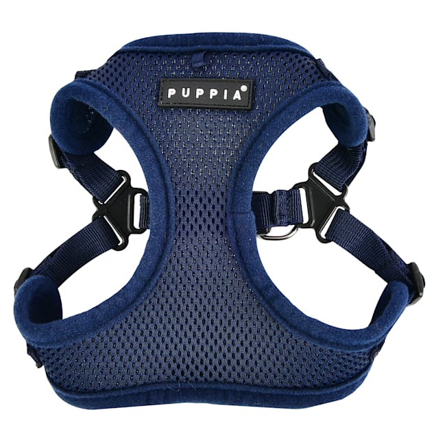 Puppia Navy Soft Comfort Dog Harness, Small - Carousel image #1