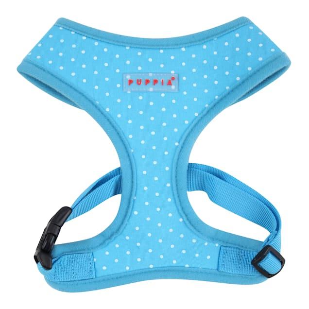Puppia Sky Blue Dotty Dog Harness, X-Small - Carousel image #1