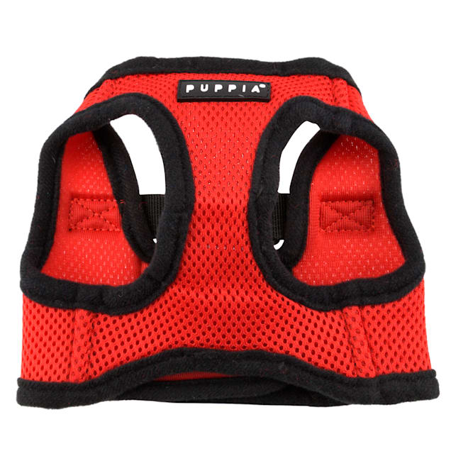 Puppia Red Soft Vest Dog Harness, X-Small - Carousel image #1