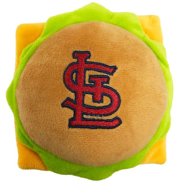 Pets First St. Louis Cardinals Hamburger Dog Toy, Medium - Carousel image #1