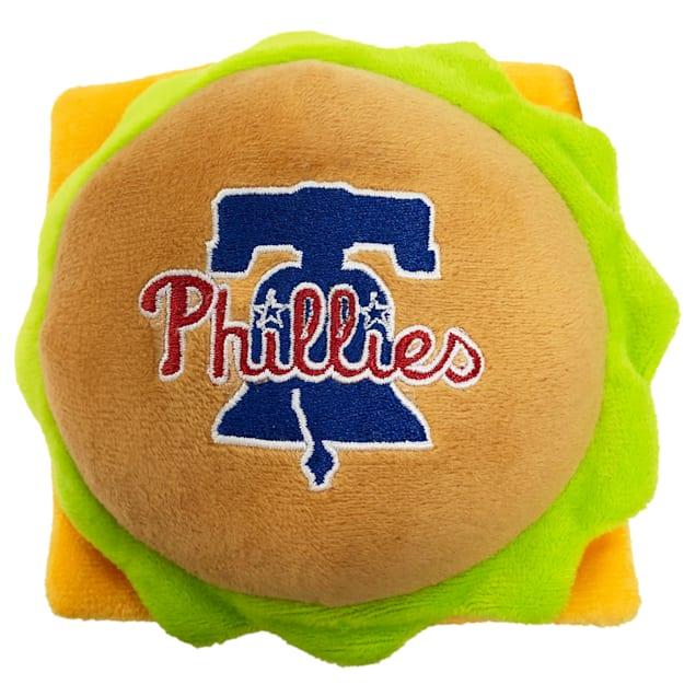 Pets First Philadelphia Phillies Hamburger Dog Toy, Medium - Carousel image #1